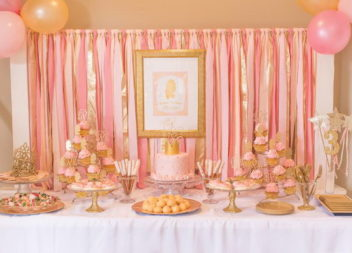 Festa in stile''rosa e oro'': l'arredamento e dettagli