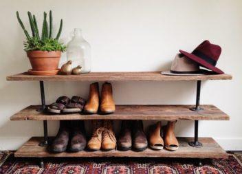 15 foto-idee su mensole e scaffali per le scarpe