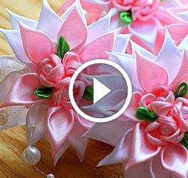 Fiore nella tecnica Kanzashi. Video-lezione