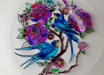 Pittura in vetro colorato. Master class