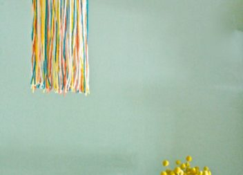 Una lampada a colori in filato!