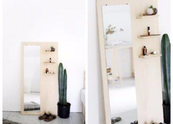 Lo specchio originale con compensato, foto-lezione