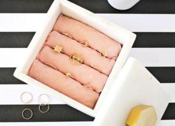 Cofanetto per anelli.Foto idee