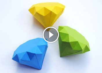 Video-lezione: 3D diamante di carta!