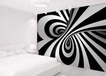 15 idee su immagine da parete, piena di illusioni ottiche