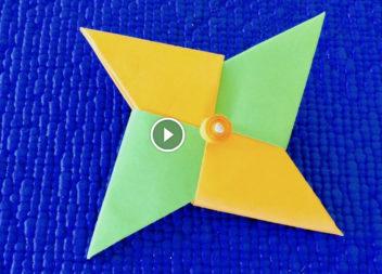 Spinner di carta fatto a mano