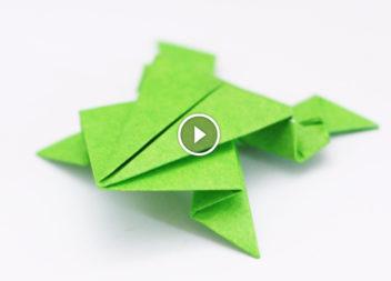 Impariamo alcune tecniche di origami. Facciamo una rana classica! Video-lezione