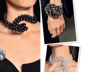 Collana asimmetrica di perle. Master class