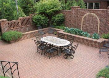 17 diverse idee su decorazione del vostro cortile con mattoni