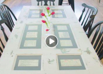 Tavolo creativo con vecchie porte, video-lezione