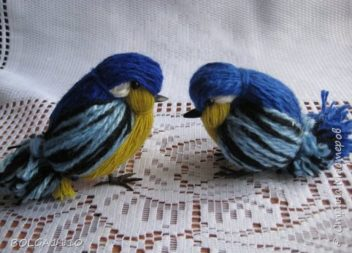 Uccelli di filati. Master class
