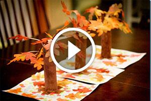 Decorazione d'autunno per bambini