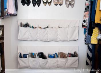 Organizzazione delle scarpe in borse speciali