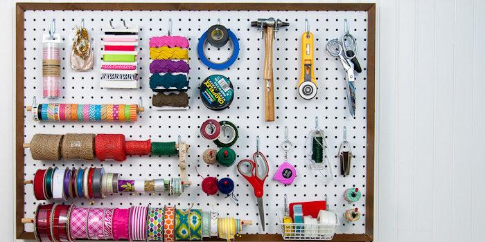 Tavoletta organizer per utensili
