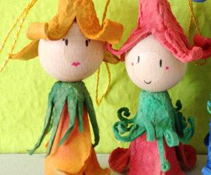 Bambole dal vassoio dall'uovo