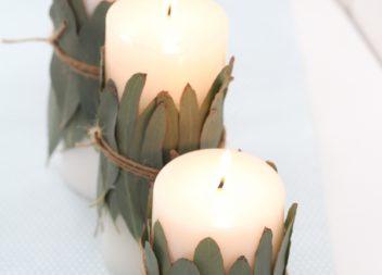 Decorazione candela