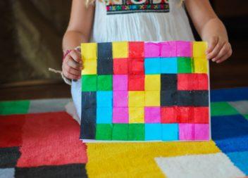 Creiamo con i bambini - un quadro di pixel
