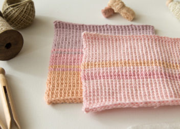 Asciugamani in maglia:master-classe