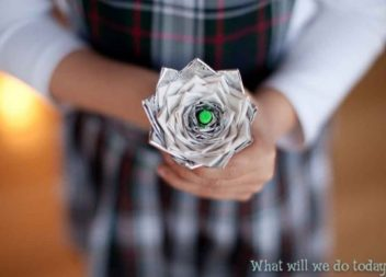 Idea su handmade: fiori di scotch