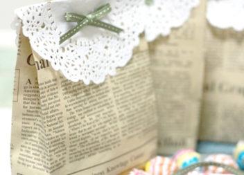 Sacchetti regalo dolci di giornale