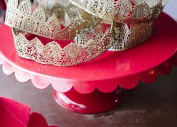 Corona festiva di nastro