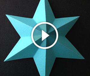 Stella di carta: un video tutorial dettagliato