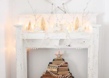 Albero di Natale creativo dai libri