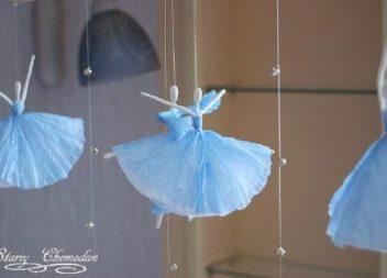 Decorazione: ballerina con tovaglioli