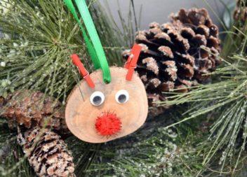 Cervo di legno: un'idea per le feste