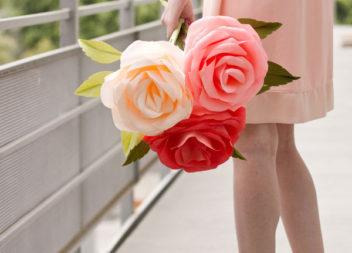 Rosa gigante di carta: master class step by step