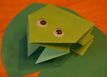 Rana saltarina: creazione origami