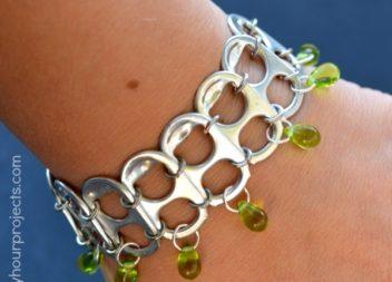 Idea su lattina: creazione braccialetto