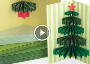 Prepariamoci per le feste con bambini: cartolina 3D con albero di Natale