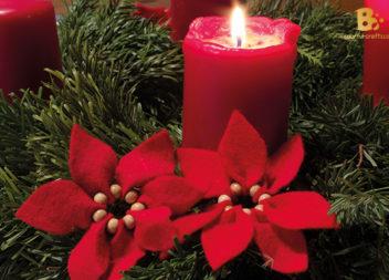 Fiore di Natale di feltro: Master Class