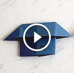 Lezione per bambini: impariamo a fare una casetta di carta