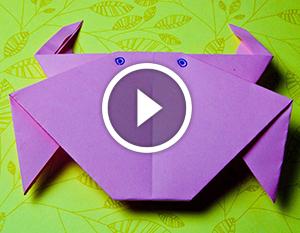 Tecnica origami: granchio di carta