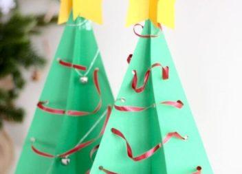 Albero di Natale di carta: idea per le feste
