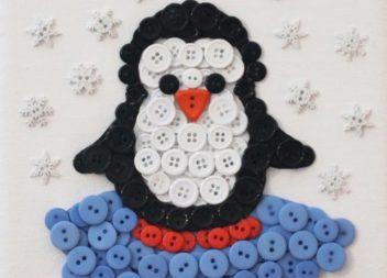 Pinguino dai bottoni: handmade con bambini!