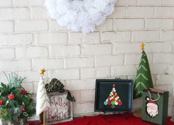 Bottoni decorativi: albero di Natale festivo