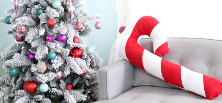 Cuscino gigante a forma di caramella