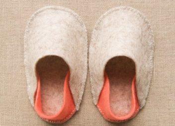 Scarpine di feltro per bambini: una master class