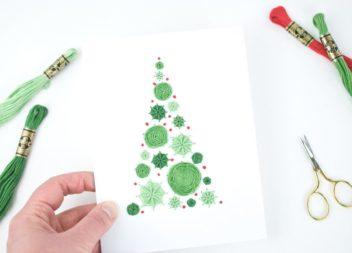 Idee su ricamo cartolina di Capodanno: master class