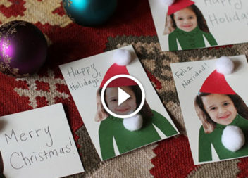 Biglietti di auguri festivi fai da te: video-lezione