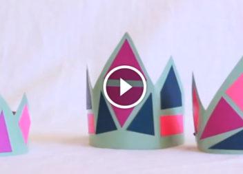 La corona della principessa delle nevi: video tutorial
