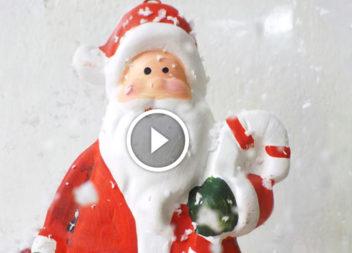 Babbo Natale da una bottiglia di plastica