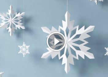 Fiocchi di neve di carta: master class