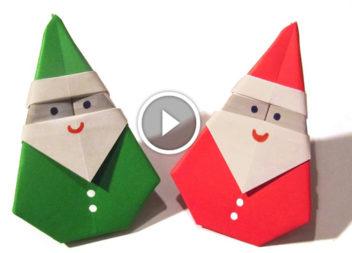 Babbo Natale in tecnica origami: video lezione