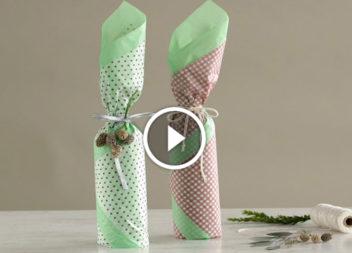 Video lezione: idee su come impachettare la bottiglia