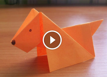 Cane dalla carta: tecnica dell'origami
