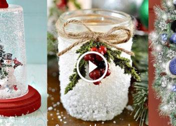 30 idee per l'arredamento di Natale: video tutorial